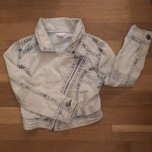 3/$20! Asymmetrical cropped denim jacket